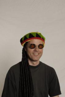 Perücke Rasta Reggae Rastaperücke Reggaemütze Mütze Reggae mit Rastalocken Jamaika Mütze Rastazöpfe Rasta Zöpfe Dreadlocks Perücke Dreadlocks Dreadlockperücke - Vorschau