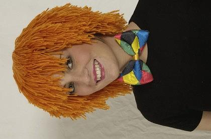 Wollhaarperücke Clown orange Wollperücke Clownperücke Perücke Clown - Vorschau
