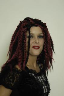 Perücke Reggae Rasta Pirat Dreadlocks schwarz rot