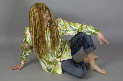 Perücke Calypso lang Reggaperücke Rastafari Pirat Piratenperücke Piratin Perücke Pirat Seeräuber Dreadlocks Hippie Perücke Hippieperücke