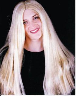 Langhaar - Perücke blond - Vorschau