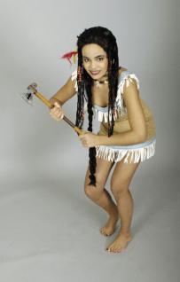 Perücke Eskimofrau Perücke Indianer Indianerin Indianerperücke Eskimoperücke Kostüm Eskimo Eskimokostüm