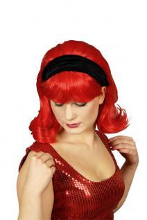 Perücke Rihanna rot mit Haarband.