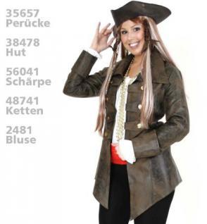 Jacke Pirat Piratenmantel Mantel Piratin Seeräuber Freibeuterin Freibeuter Piratenkostüm Kostüm Pirat Kostüm Frau - Vorschau 2