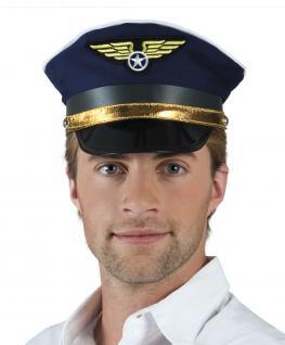 Hut Pilot Pilotenhut Mütze Kapitän Fliegermütze Mütze Flieger Kapitänsmütze Pilotenmütze