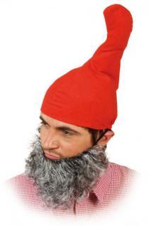 Zwergenmütze und Bart Mütze Zwerg Zwergenbart