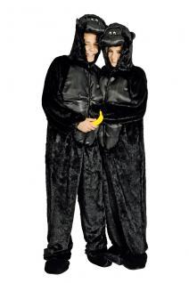 Kostüm Gorilla Gorillakostüm Kinder und Erwachsene Gorilla Overall Gorillaoverall - Vorschau 1