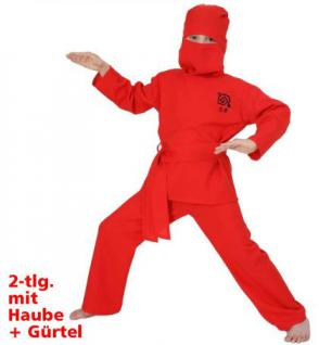 Kostüm Red Ninja Ninjakostüm Kostüm Kinder Kinderkostüm - Vorschau 1