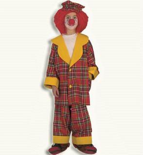 Clown mit Mütze Kostüm Clown Karneval Clownkostüm