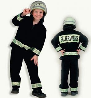 Kostüm Feuerwehrmann schwarz - Vorschau 1