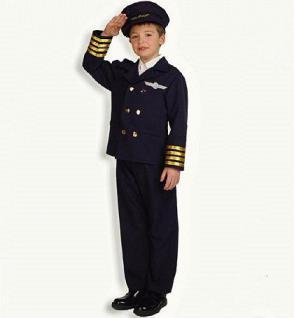 Pilot 2-tlg. mit Hut Pilotenkostüm Kostüm