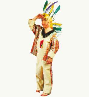 Indianer Red Fire Kostüm für Kinder Indianerkostüm Kostüm Indianer - Vorschau 1