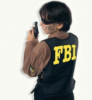 Weste FBI Kostüm