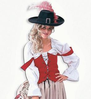 Piratenbluse Bluse Pirat Piratin Kostüm Hemd - Vorschau 1