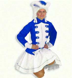Kostüm Tanzmarie blau - Vorschau
