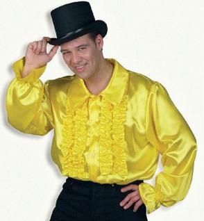 Rüschenhemd gelb Karneval Fasnet Hemd Rüsche