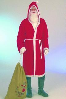 Nikolausmantel mit Bart Kostüm Nikolaus Nikolauskostüm Nikolaus Mantel Sanata Clause Weihanchtsmannkostüm Kostüm Weihnachtsmann