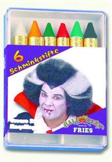 6 Schminkstifte Halloween - Vorschau