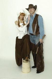 Chaps Antik - Leder - Look Cowboy Cowboykostüm