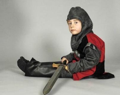 Kostüm Ritter Kinder Ritterkostüm Mittelalter rot-schwarz