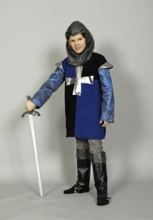 Kostüm Kinder Kinderkostüm Ritter Ritterkostüm Mittelalter Ritter Kinder blau-schwarz - Vorschau