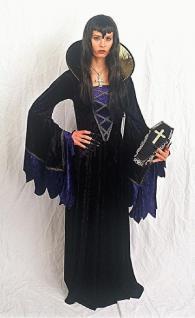 Samt Kostüm Queen of Darkness Gothic Hexe Halloween - Vorschau 1