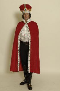 Königsmantel 130 cm König Mantel Umhang Kostüm Königkostüm