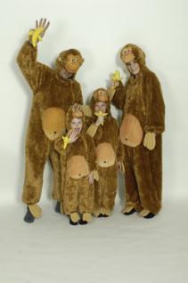 Kostüm Affe Affenkostüm Kinder und Erwachsene Overall Affe Affenoverall