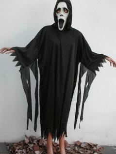 Monsterkutte schwarz Gr. X-XL Kostüm Halloween Grusel