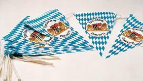 Wimpelgirlande Bayern blau - weiß Wimpel - Vorschau