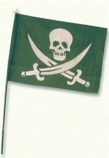 Piratenflagge mit Stock Fahne Pirat Flagge Piratenfahne