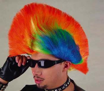 Perücke Rainbow - Punk - Vorschau