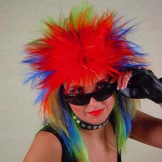 Perücke Punk Rainbow - Fashion