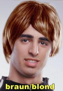 Perücke Oasis braun - blond - Vorschau