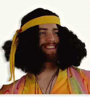 """Perücke """" Hippie """" schwarz"""