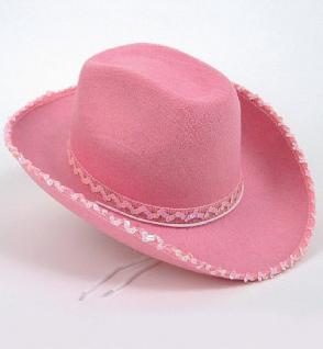 """Hut """" Texas Cowgirl """" rosa Cowboyhut"""