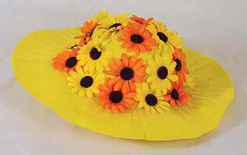 Sonnenblumen - Hut Sonnenblume