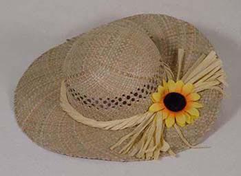 Strohhut mit Sonnenblume