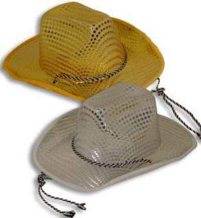 Cowboyhut Pailetten gold oder silber - Vorschau