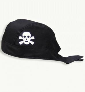 Piratenkopftuch schwarz Kopftuch Kopftuch Pirat Kostüm Pirat Piratenkostüm