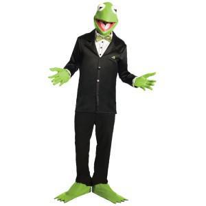 The Muppets Kermit Set Kermitkostüm Kostüm Kermit Froschmaske Maske Frosch Kostüm Frosch Froschkostüm - Vorschau