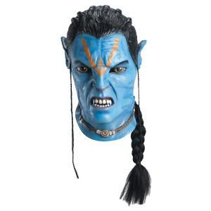 Avatar Maske Jake Sully Avatarmaske mit Zopf für Erwachsene Avatarkostüm Avatar Kostüm