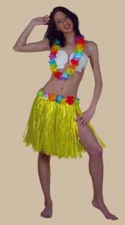 Hawaii - Set 3-teilig Bastrock Hawaii Hawaiikette - Vorschau