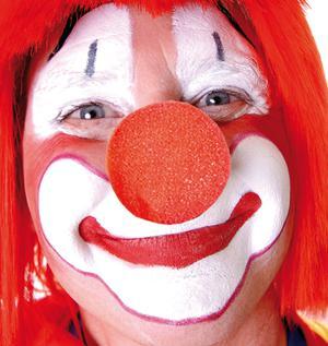 1200 Clownnase Schaumstoff Clown Nase red nose