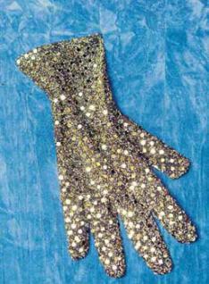 Pailetten Handschuhe gold - Vorschau