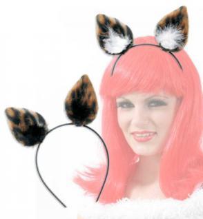 Katzenohren Haarreif Katze Ohren Katze Tiger Leopard Ohren Katzenkostüm Tigerohren - Vorschau