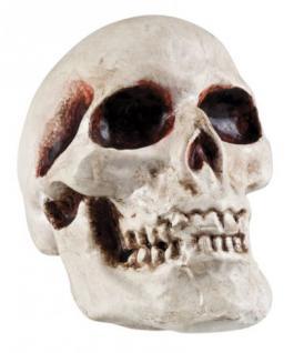 Totenkopf Deko ca. 12 x 11 cm Halloweendeko Deko Halloween Totenkopfdeko