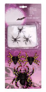 6 x Spinne Spinnen Spinnenset Spinnennetz Netz Spinne