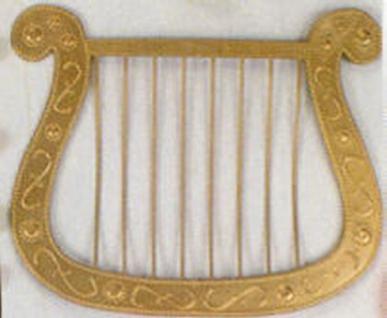 Harfe Kostüm Engel Barde Engelsharfe