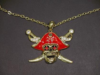 Piratenmedaillon Pirat Anhänger Kette Piraten